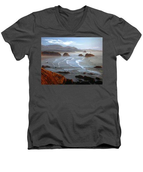 Cannon Beach At Sunset Men's V-Neck T-Shirt