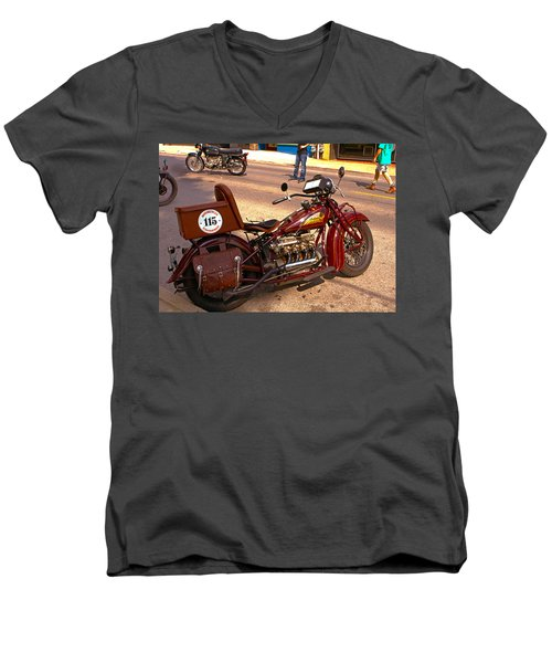 Cannonball Indian #115 Men's V-Neck T-Shirt