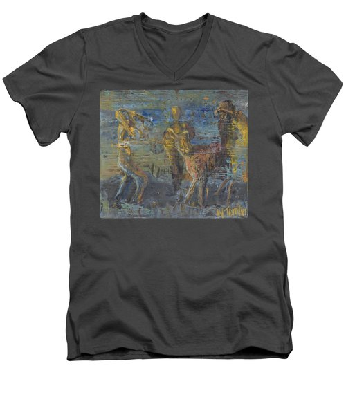 'can't Force A Mule' Men's V-Neck T-Shirt