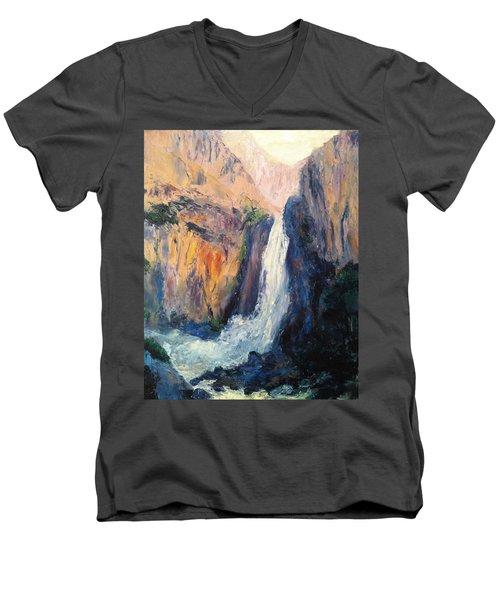 Canyon Blues Men's V-Neck T-Shirt by Gail Kirtz