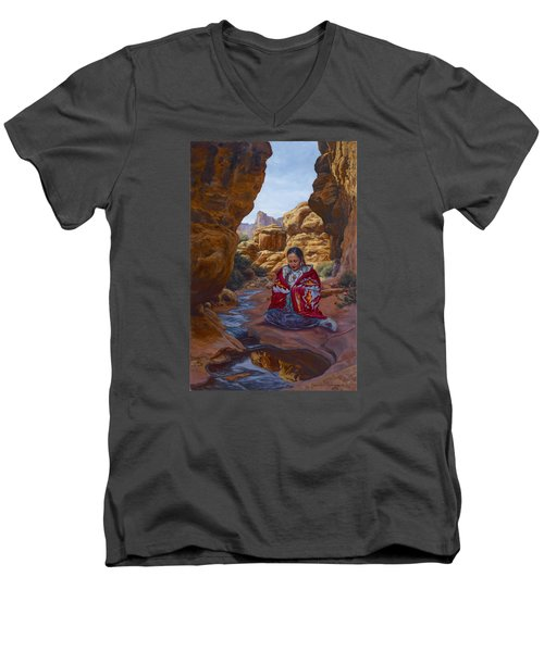 Canyon Cathedral Men's V-Neck T-Shirt