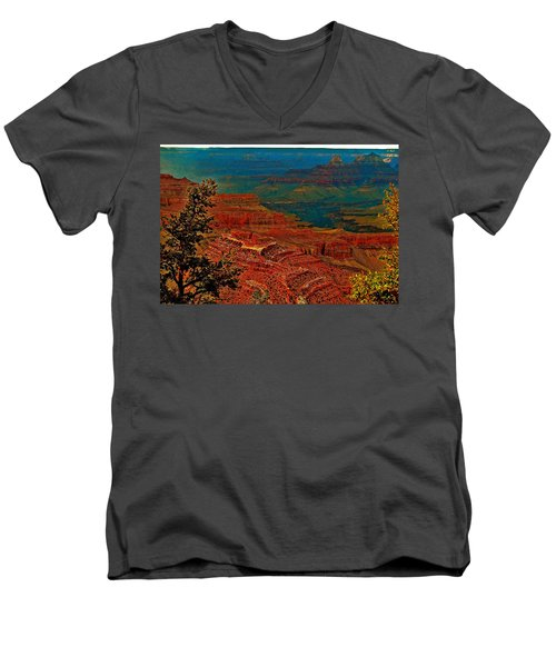 Canyon Colours Show Through Men's V-Neck T-Shirt