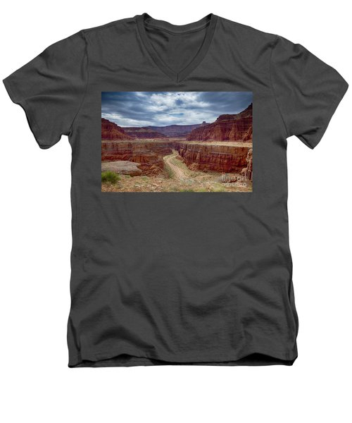 Canyonlands Men's V-Neck T-Shirt by Juergen Klust