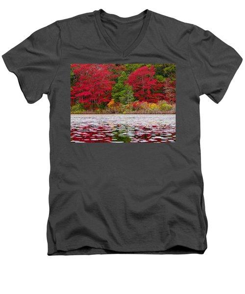Men's V-Neck T-Shirt featuring the photograph Cape Cod Autumn by Dianne Cowen