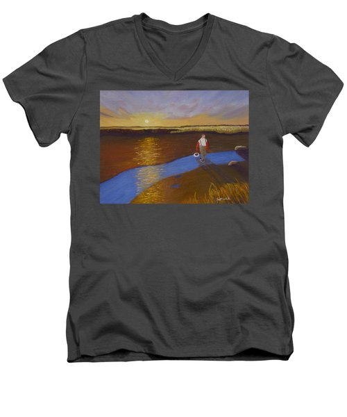 Cape Cod Clamming Men's V-Neck T-Shirt