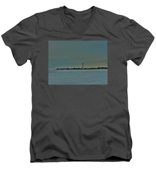 Cape May Point Men's V-Neck T-Shirt by Ed Sweeney