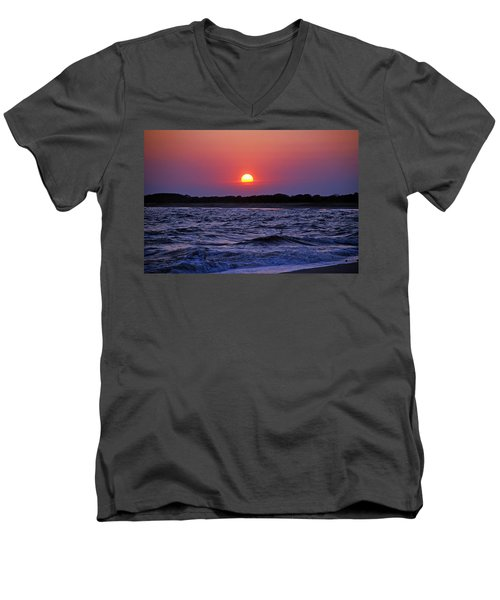 Cape May Sunset Men's V-Neck T-Shirt