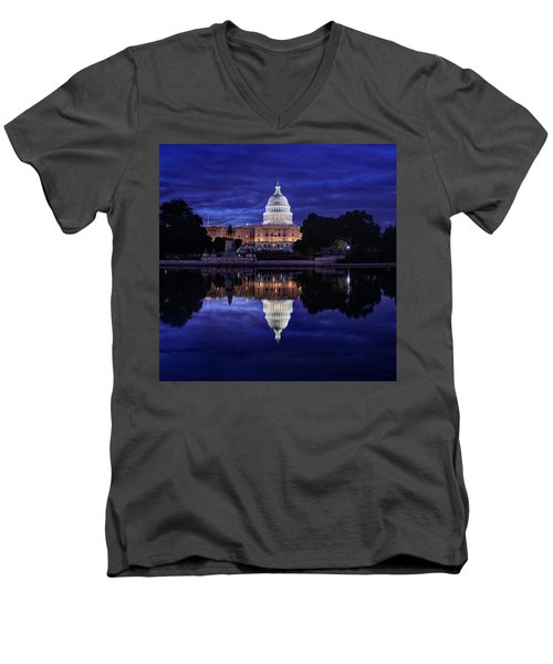 Capitol Morning Men's V-Neck T-Shirt