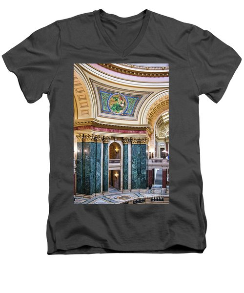 Capitol - Madison - Wisconsin Men's V-Neck T-Shirt