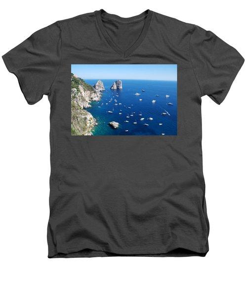 Capri  Men's V-Neck T-Shirt
