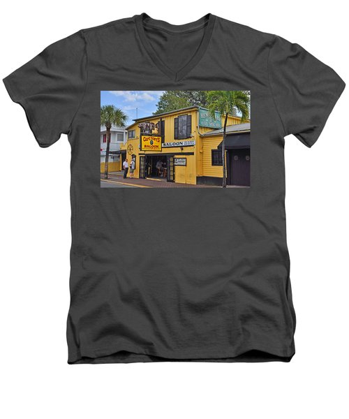 Captain Tony's Saloon Men's V-Neck T-Shirt