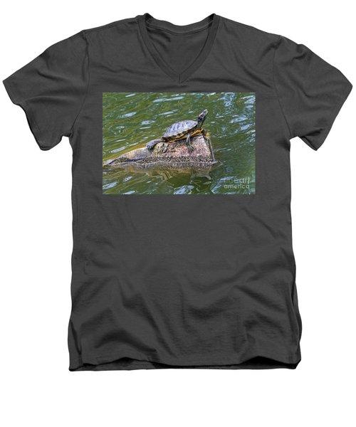 Captain Turtle Men's V-Neck T-Shirt