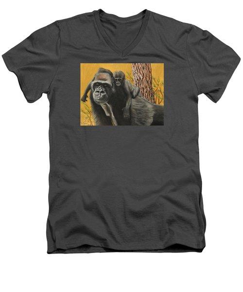 Captured Bernigie Men's V-Neck T-Shirt by Jeanne Fischer