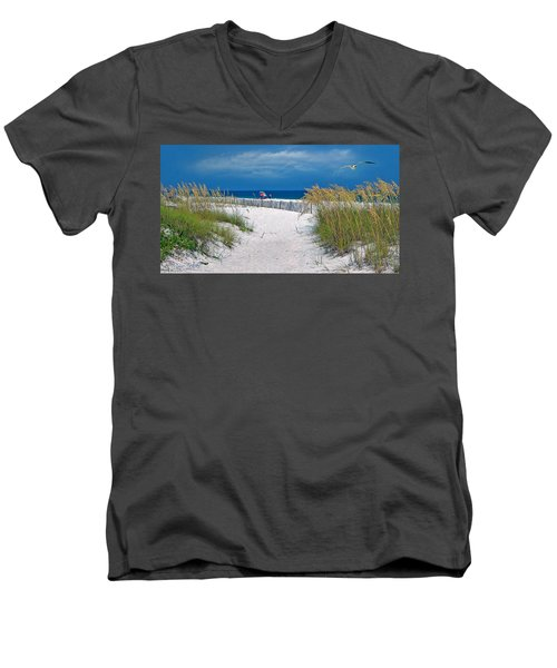 Carefree Days By The Sea Men's V-Neck T-Shirt