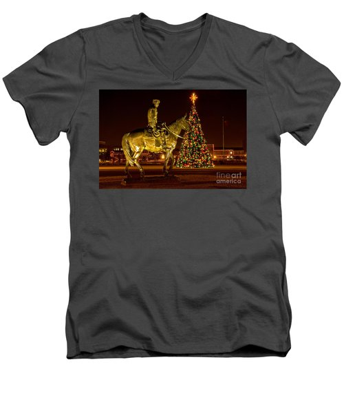 Men's V-Neck T-Shirt featuring the photograph Carol Of Lights by Mae Wertz