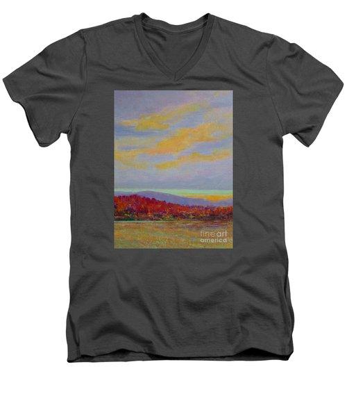 Carolina Autumn Sunset Men's V-Neck T-Shirt