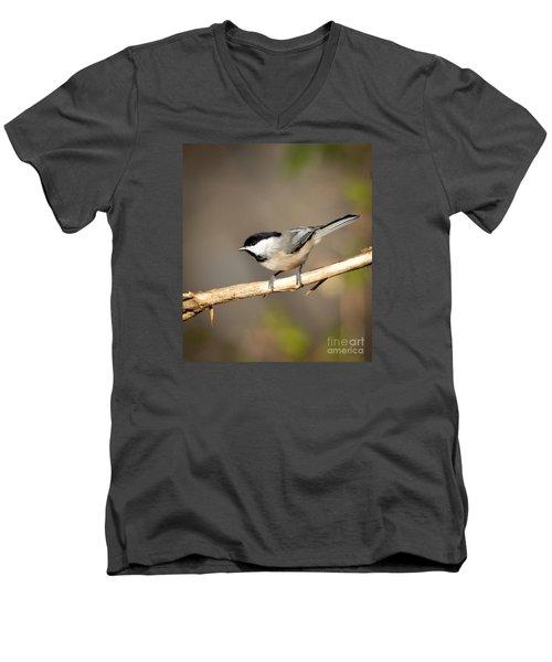 Men's V-Neck T-Shirt featuring the photograph Carolina Chickadee  by Kerri Farley