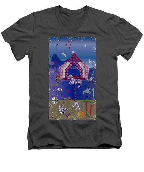 Carousel  Men's V-Neck T-Shirt by Gabriela Delgado