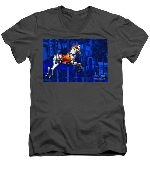 Carousel Horse Men's V-Neck T-Shirt