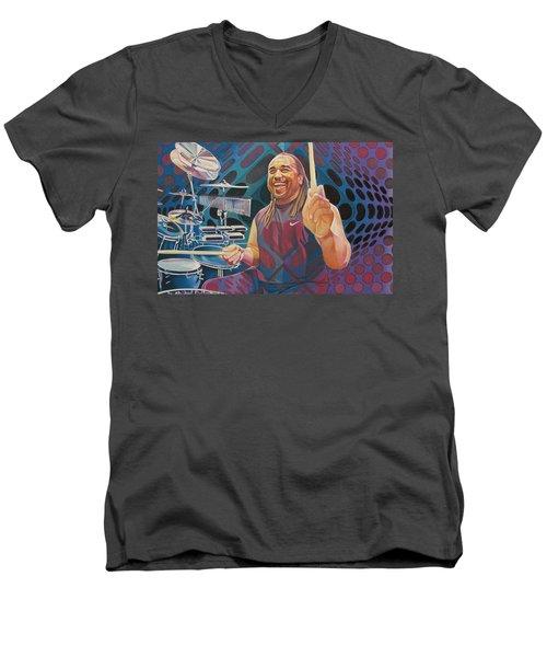 Carter Beauford-op Series Men's V-Neck T-Shirt