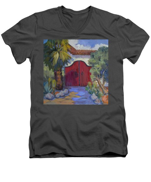 Casa Tecate Gate 2 Men's V-Neck T-Shirt by Diane McClary