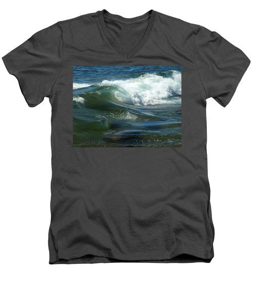 Cascade Wave Men's V-Neck T-Shirt