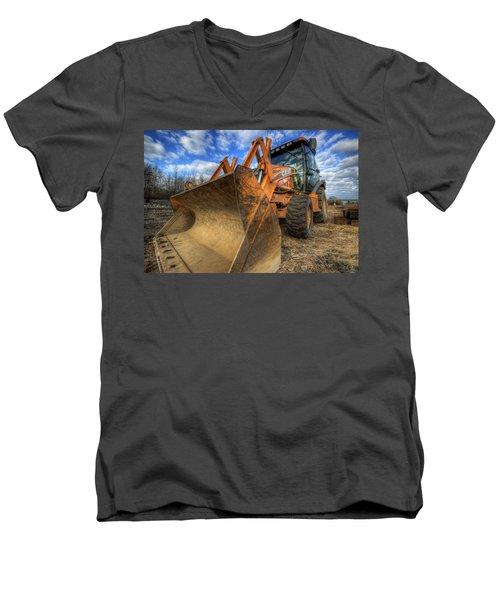 Case Backhoe Men's V-Neck T-Shirt
