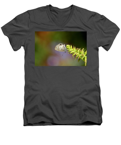 Men's V-Neck T-Shirt featuring the photograph Cassius Blue by Greg Allore
