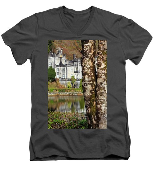 Castle Behind The Trees Men's V-Neck T-Shirt