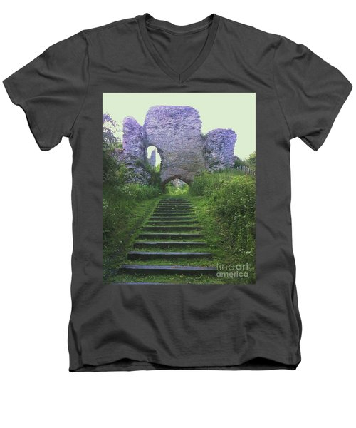 Men's V-Neck T-Shirt featuring the photograph Castle Gate by John Williams