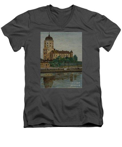 Castle Of Vyborg Men's V-Neck T-Shirt