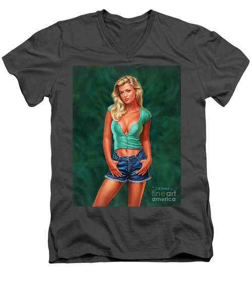 Casual Beauty Men's V-Neck T-Shirt