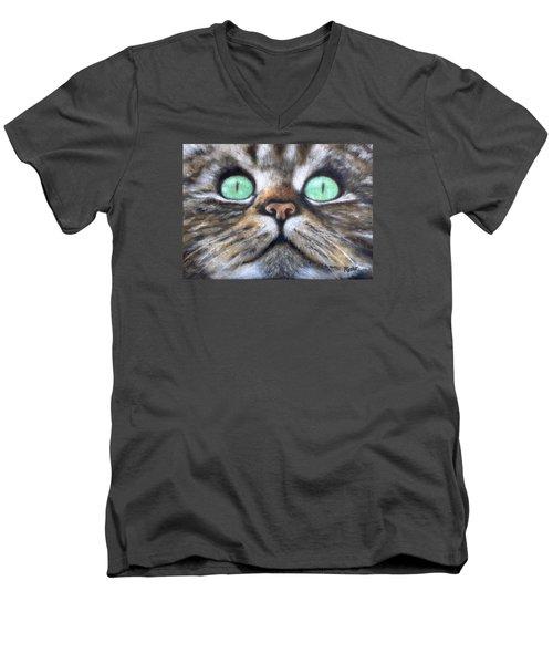 Cat Eyes Men's V-Neck T-Shirt