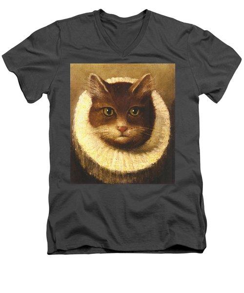 Cat In A Ruff Men's V-Neck T-Shirt