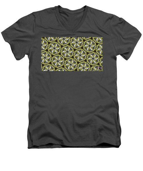 Men's V-Neck T-Shirt featuring the photograph Cat /shoe /rose #2 by Elizabeth McTaggart