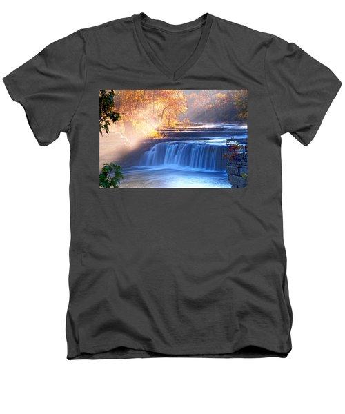 Cataract Falls Indiana Men's V-Neck T-Shirt