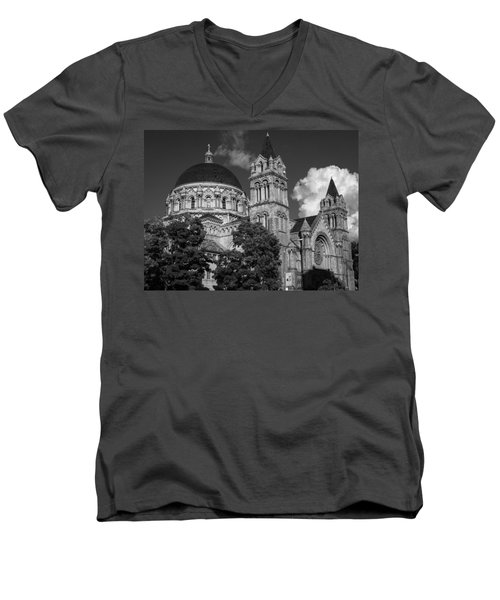 Cathedral Basilica Of St. Louis Men's V-Neck T-Shirt