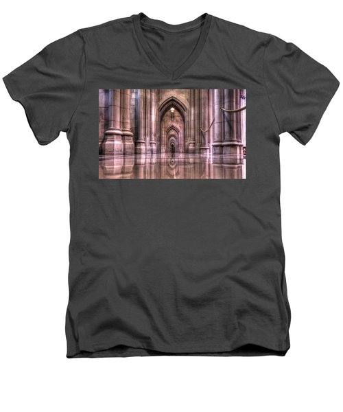 Cathedral Reflections Men's V-Neck T-Shirt