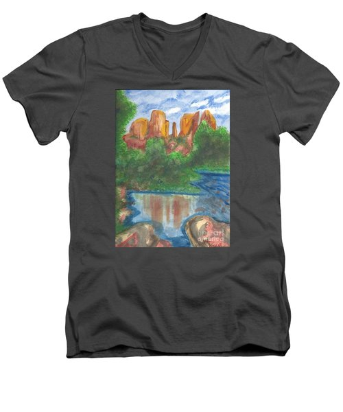 Cathedral Rock Men's V-Neck T-Shirt