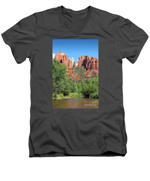 Cathedral Rock Sedona Men's V-Neck T-Shirt