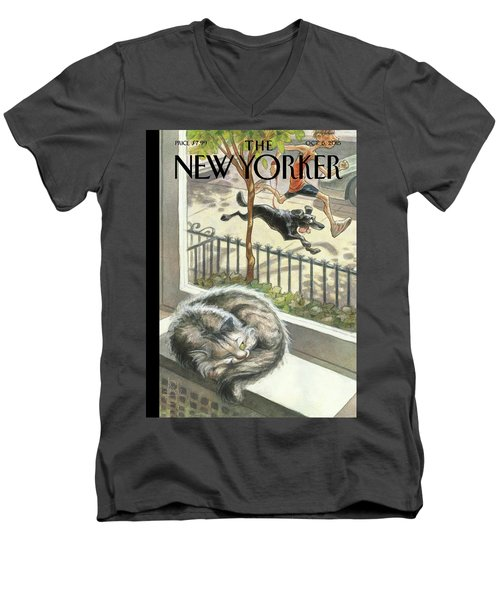 Catnap Men's V-Neck T-Shirt