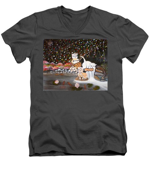 Cats In The Wild II Men's V-Neck T-Shirt