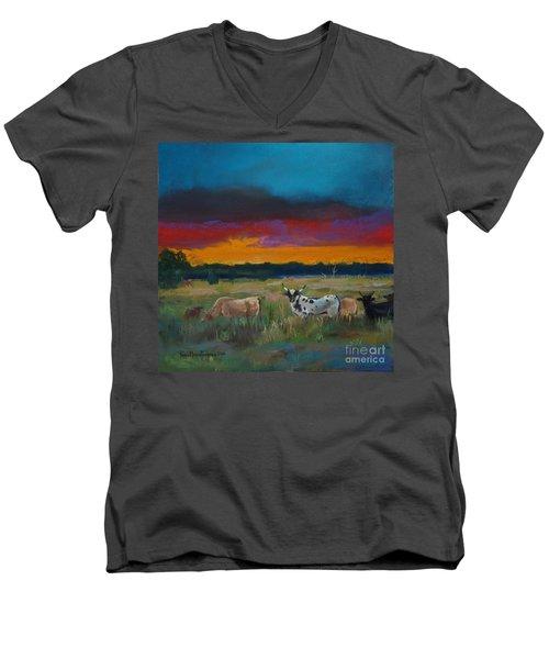 Cattle's Cadence Men's V-Neck T-Shirt