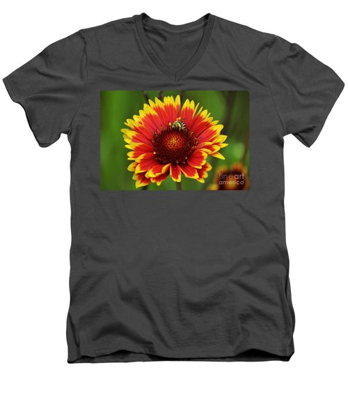 Caught Snacking Men's V-Neck T-Shirt by Kevin Fortier