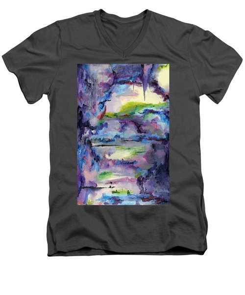 Cave Painting Men's V-Neck T-Shirt