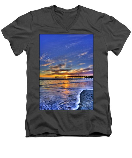 Cayucos Sunset Men's V-Neck T-Shirt