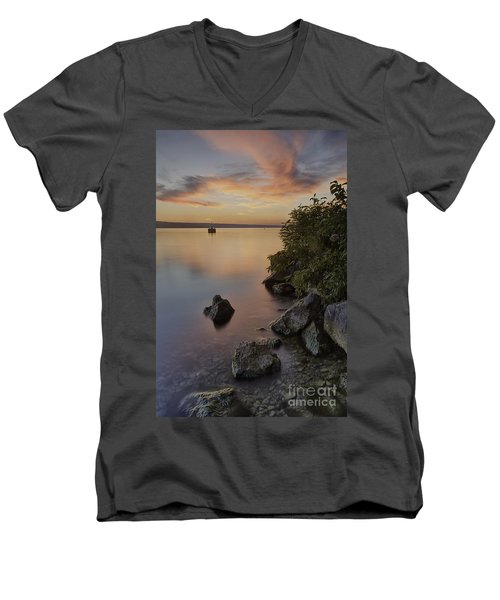 Cayuga Sunset I Men's V-Neck T-Shirt