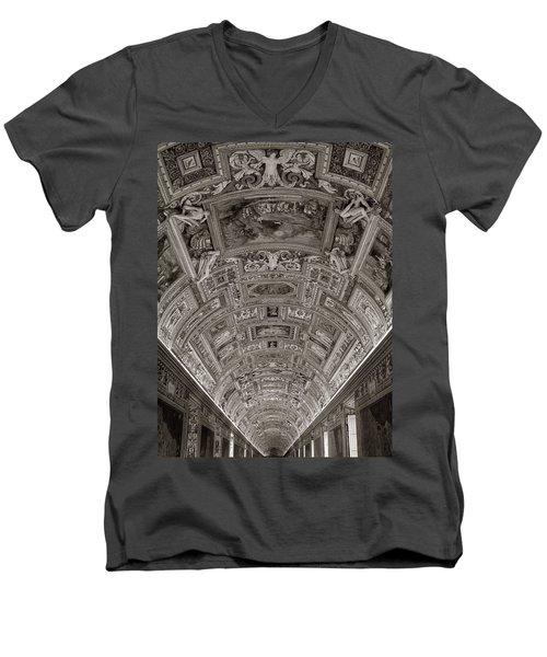 Ceiling Of Hall Of Maps Men's V-Neck T-Shirt