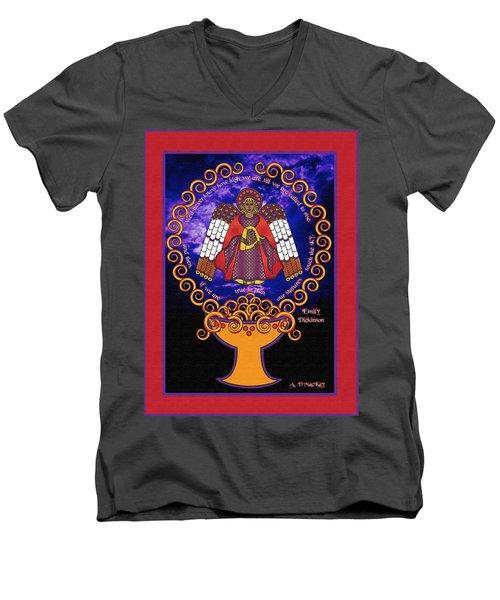 Celtic Angel Rising Men's V-Neck T-Shirt
