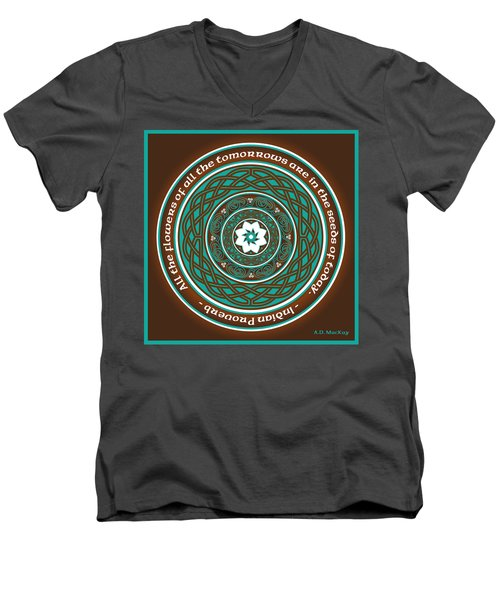 Celtic Lotus Mandala Men's V-Neck T-Shirt